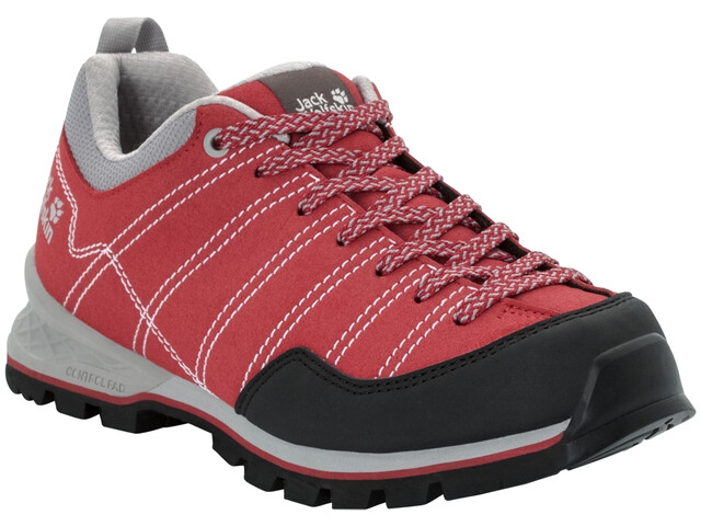 Jack Wolfskin Scrambler Low Schuhe Damen red/light grey